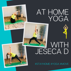 At home yoga with Jeseca D